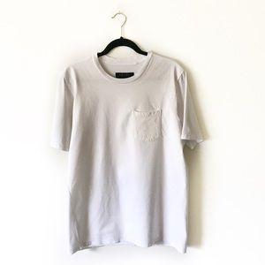 Rag & Bone White Cotton Tee Front Pocket